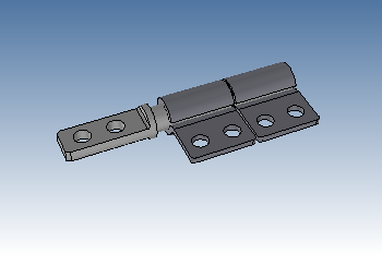 Small friction hinge